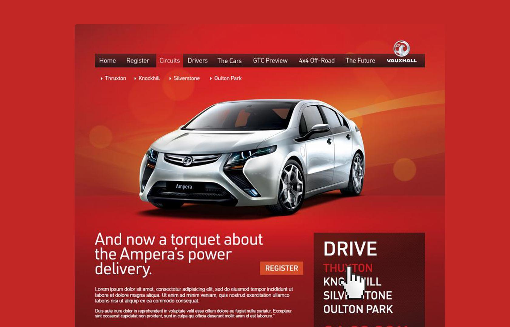 Vauxhall homepage
