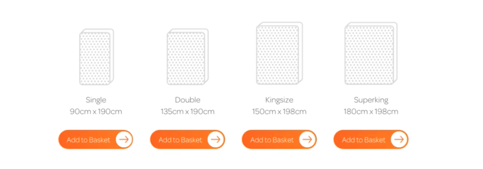 Brighter-Mattress-Mattress-size-options-Screenshot