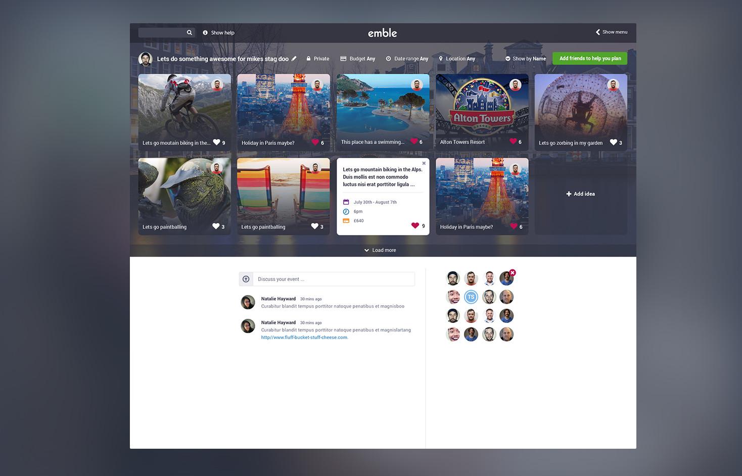 Emble-App-Slider-Image-Plan-Event-Page-Simple-Refined-Design