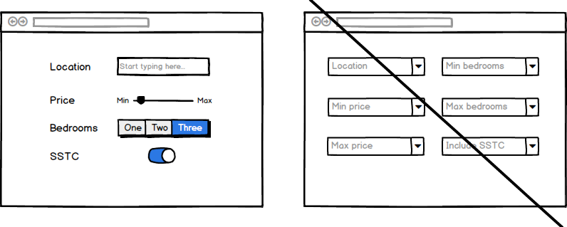 Ditch the drop down UX